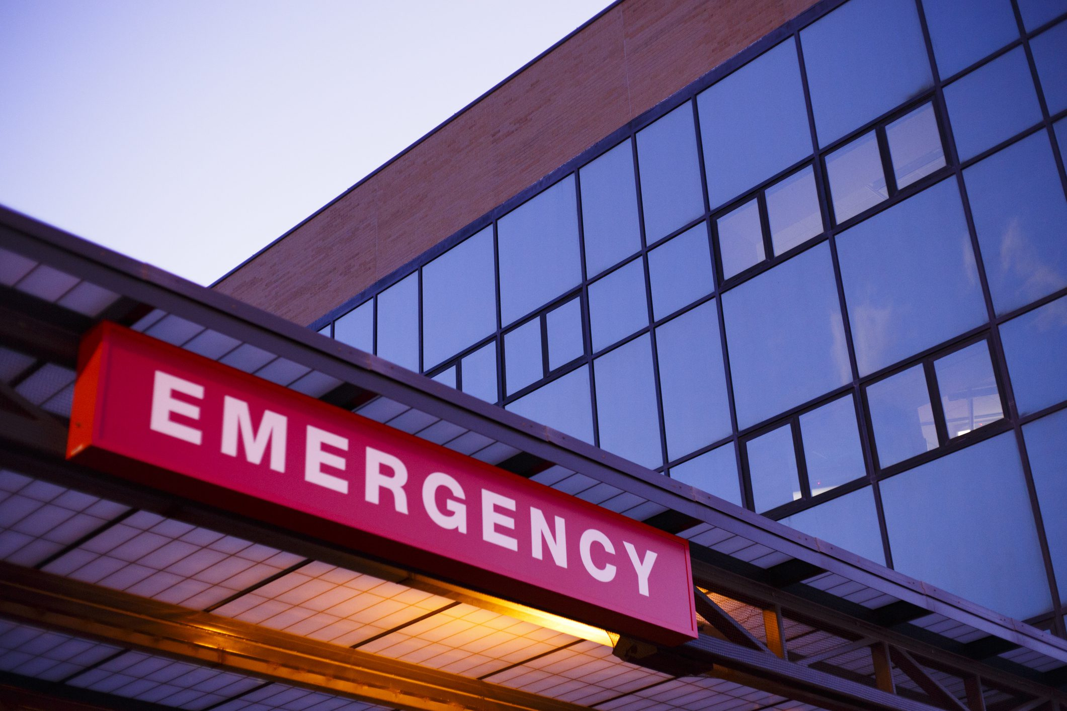 An emergency department sign.