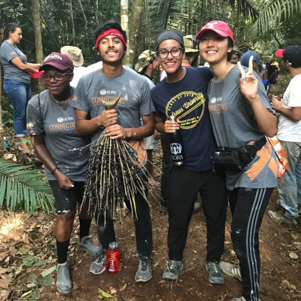 Deborah with other students during the mission trip to Brazil with ADRA Connections.