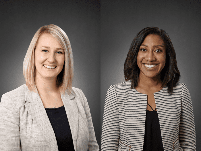 Jessica Beans, Associate Dean for Enrollment and Communications (left); Lauren Brooks, Director of Public Relations and Marketing (right)