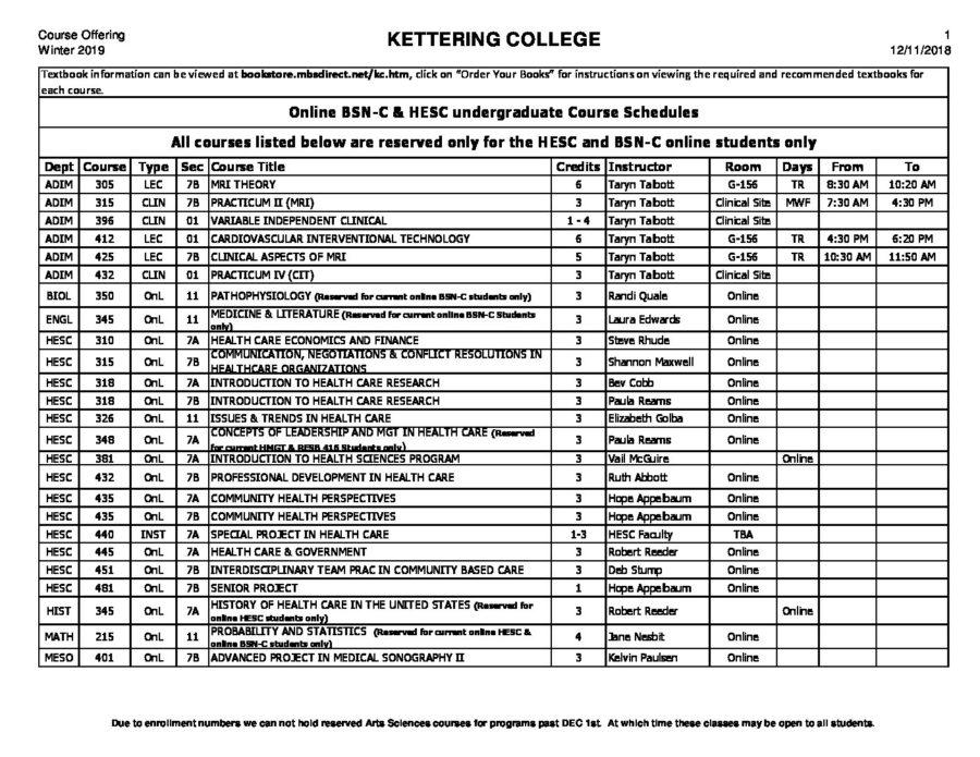 WI-19-BSN-C-HESC-Online-Class-Schedule-12-11 - Kettering College