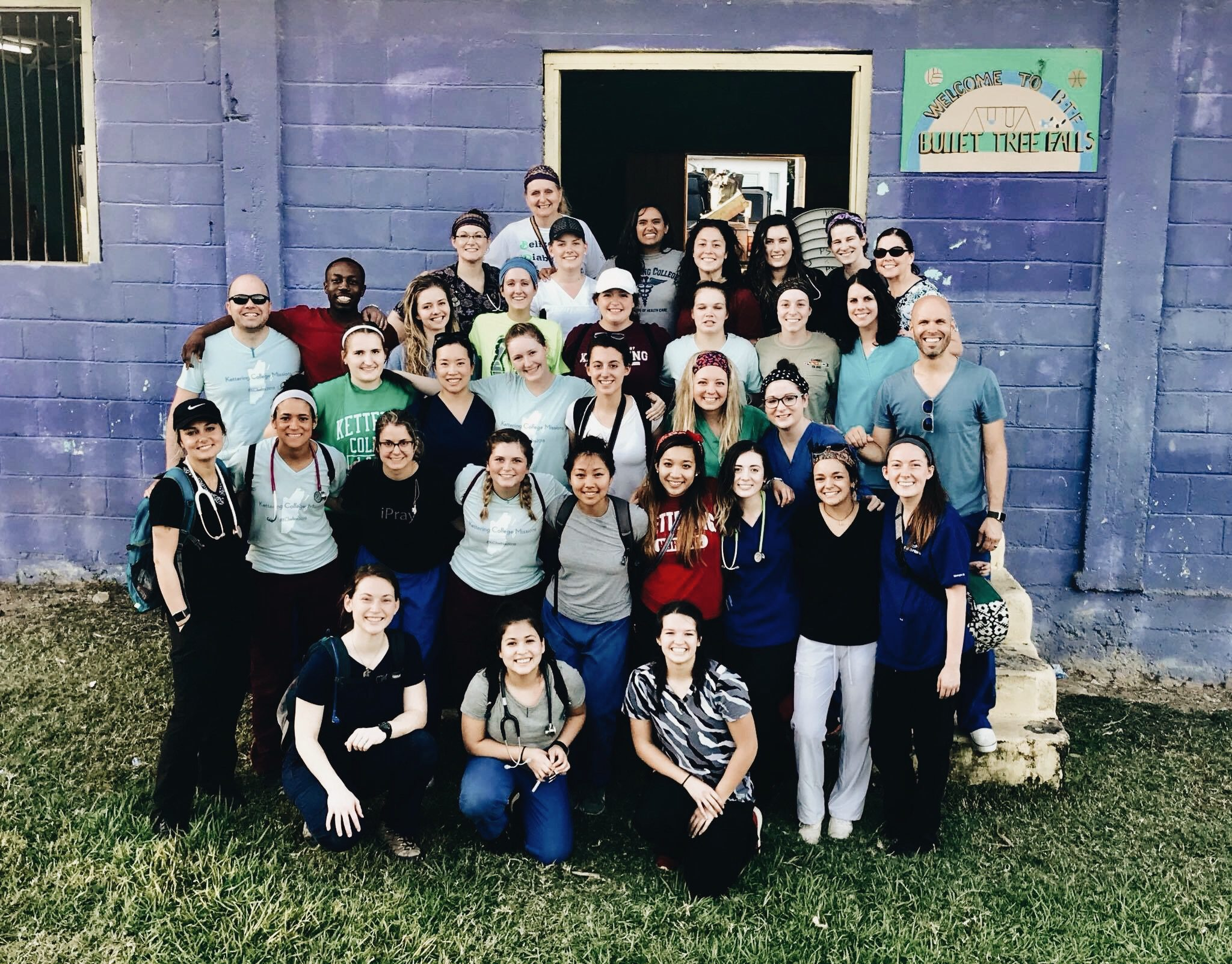 The Kettering College mission trip group in Belize, last year.