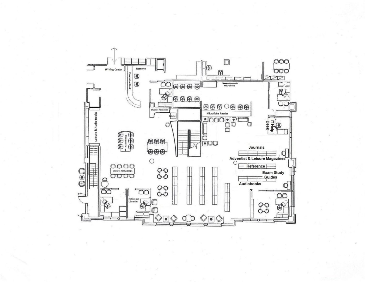 library floor plans for the main floor